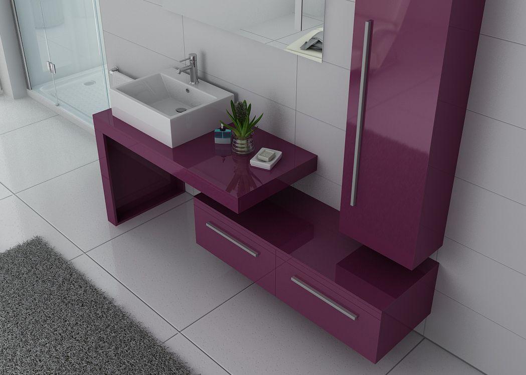 meuble 1 vasque aubergine meuble de salle de bain. Black Bedroom Furniture Sets. Home Design Ideas