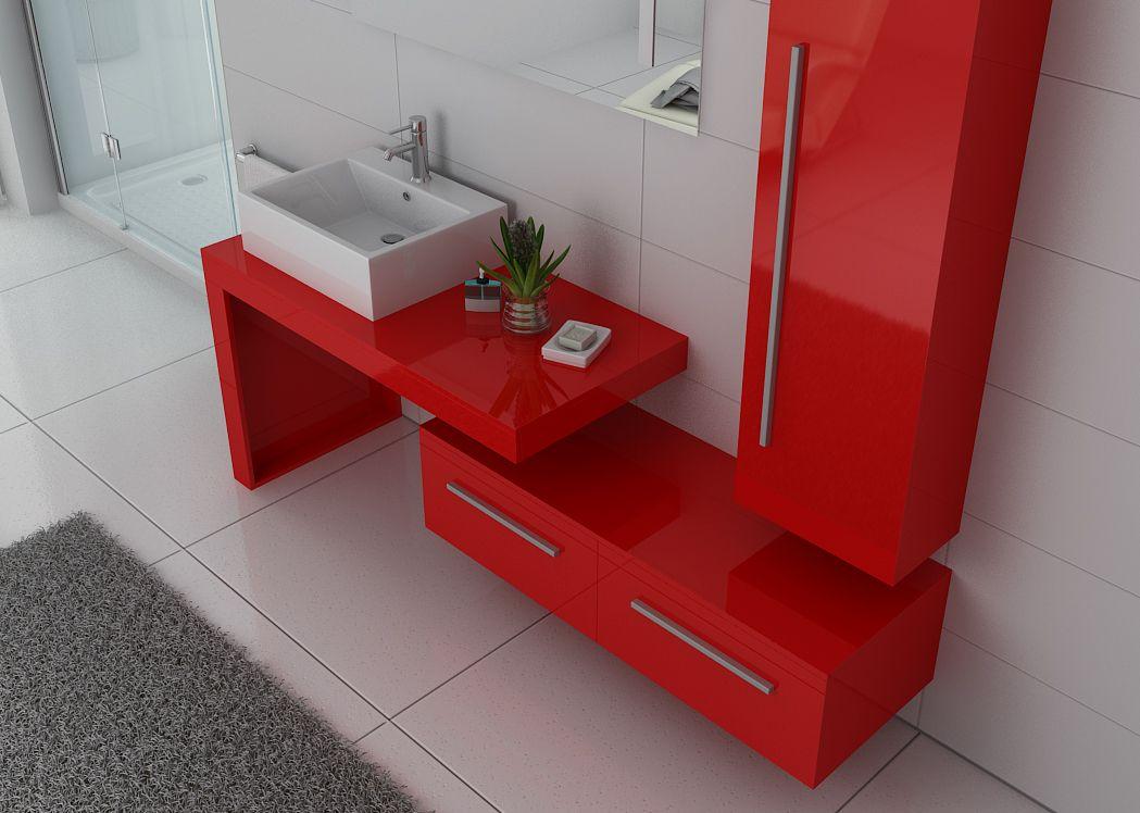 Meuble de salle de bain rouge coquelicot meuble de salle for Salle de bain pop