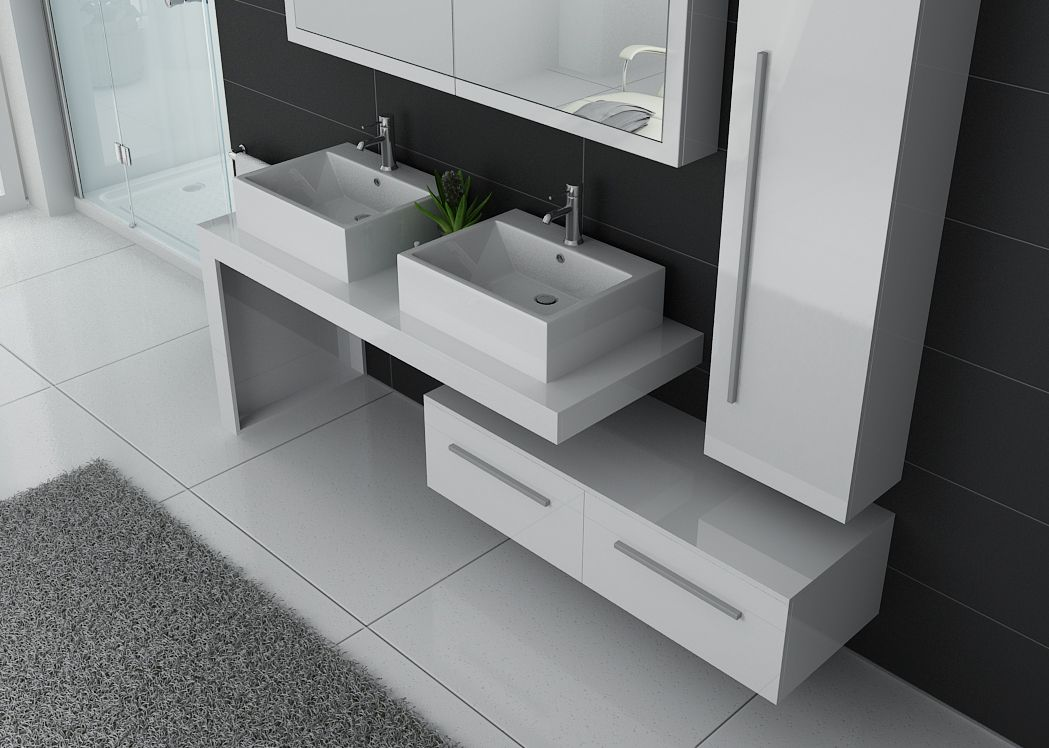 meuble de salle de bain complet dis9350b meuble de salle de bain complet blanc. Black Bedroom Furniture Sets. Home Design Ideas
