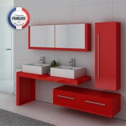 Meuble double vasque fonctionnel DIS9350CO Coquelicot