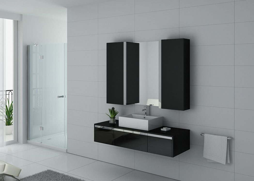 meuble salle de bain ref dis9650n. Black Bedroom Furniture Sets. Home Design Ideas