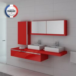 Meuble salle de bain double vasque DIS9551CO Coquelicot