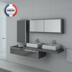 Meuble salle de bain DIS9551GT Gris taupe