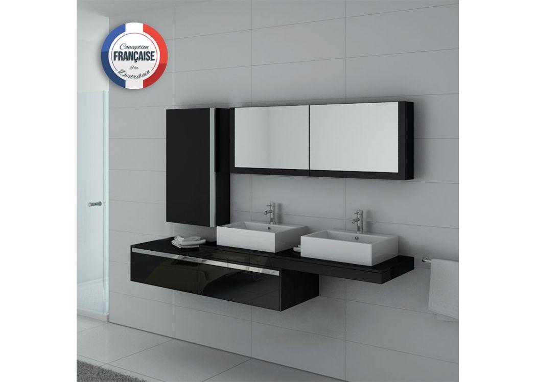 Meubles de salle de bain double vasques avec mobilier ...