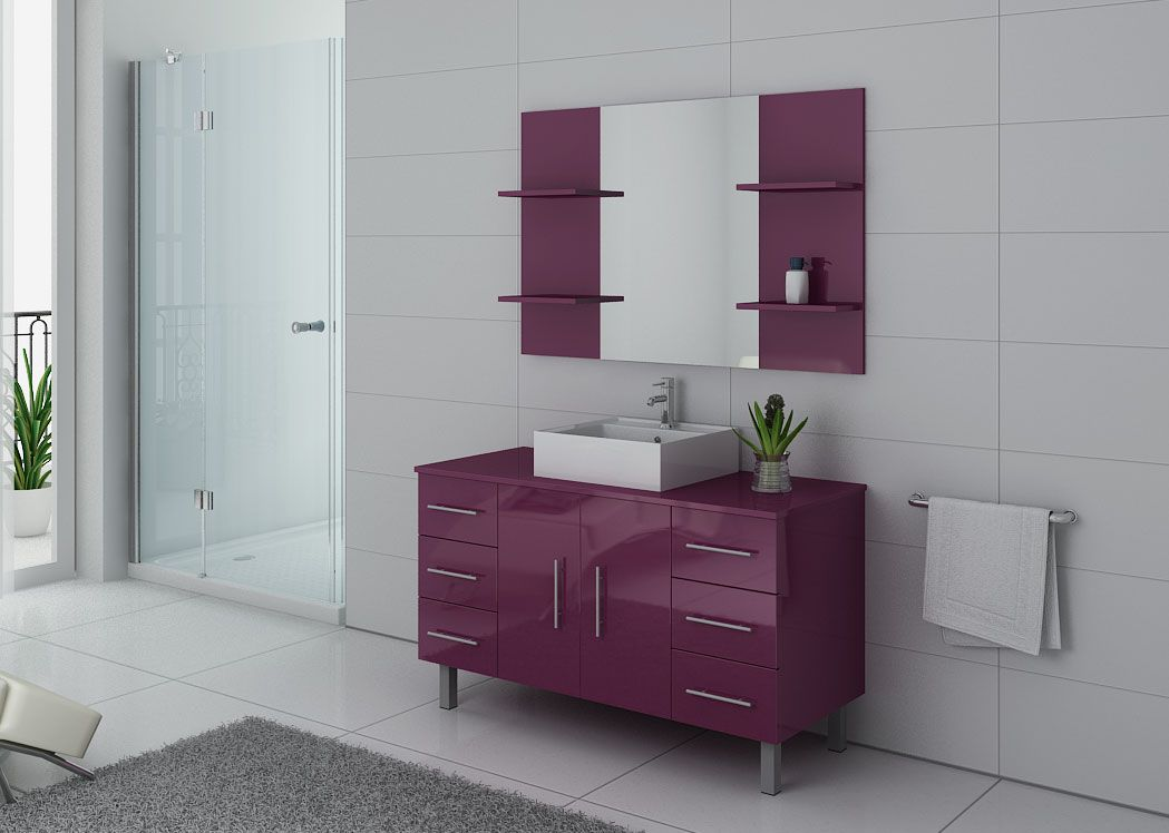 ensemble de salle de bain simple vasque sur pieds ref turin au. Black Bedroom Furniture Sets. Home Design Ideas