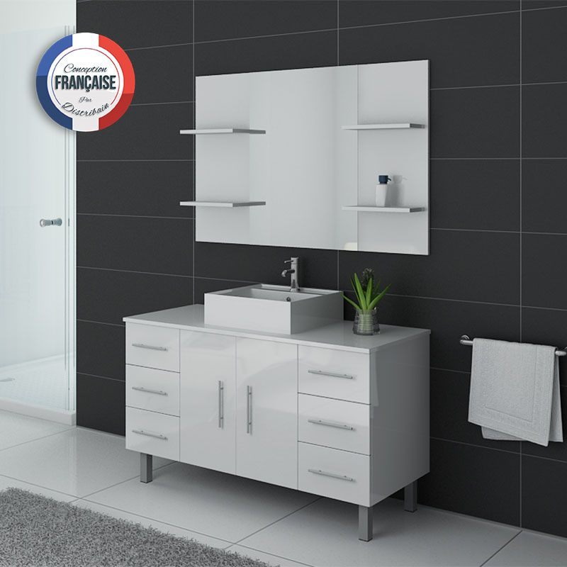 ensemble de salle de bain simple vasque sur pieds ref turin b. Black Bedroom Furniture Sets. Home Design Ideas