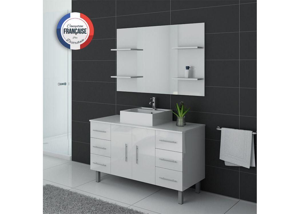 Ensemble de salle de bain simple vasque sur pieds ref turin b for Salle de bain online