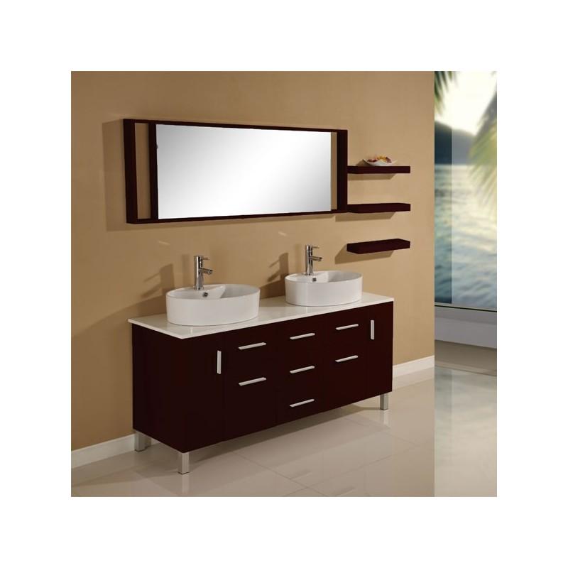 Meuble salle de bain wenge ikea - Miroir eclairant ikea ...