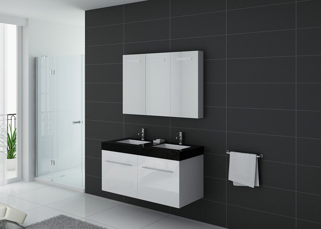 salle de bain bicolore sg99 montrealeast. Black Bedroom Furniture Sets. Home Design Ideas
