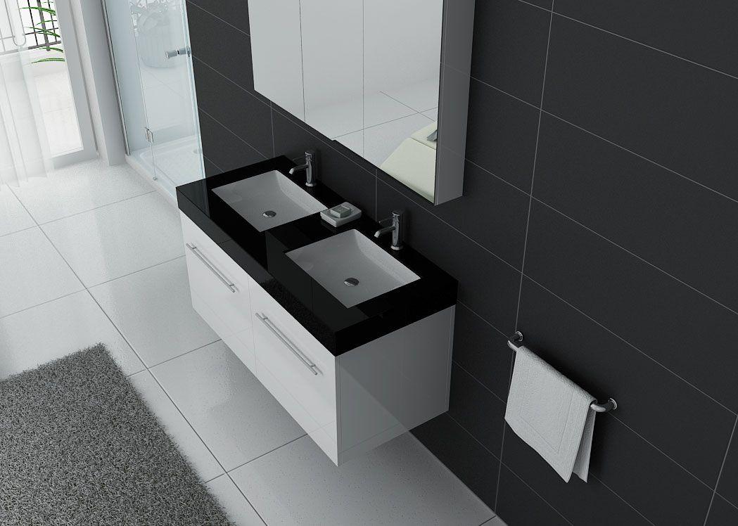meuble double vasque ref dis1200b. Black Bedroom Furniture Sets. Home Design Ideas