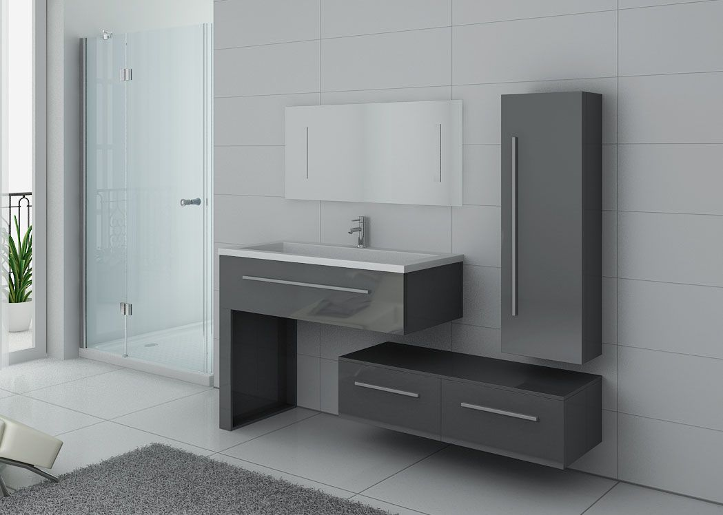 meuble salle de bain gris taupe 1 vasque meuble de salle de bain gris dis9251gt. Black Bedroom Furniture Sets. Home Design Ideas