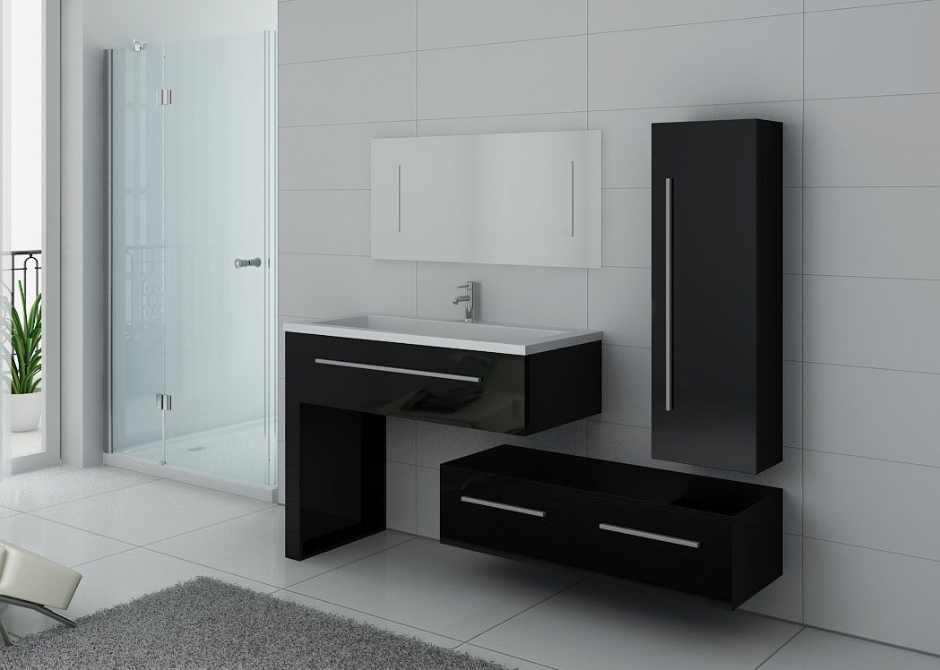 meuble de salle de bain noir simple vasque meuble noir. Black Bedroom Furniture Sets. Home Design Ideas