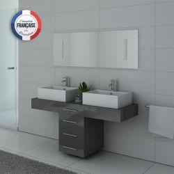 Mobilier atypique pour salle d'eau gris DIS988GT