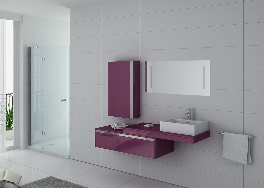 Meuble de salle de bain aubergine 1 vasque meuble de - Meuble de salle de bain aubergine ...