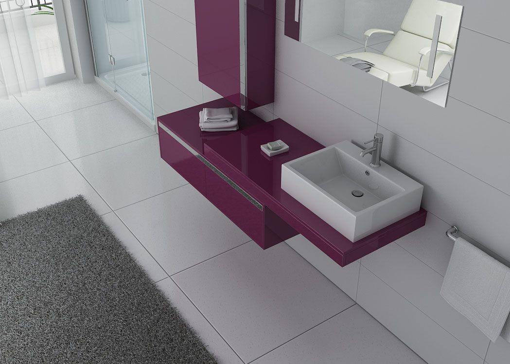 meuble de salle de bain aubergine 1 vasque meuble de salle de bain aubergine dis9550au. Black Bedroom Furniture Sets. Home Design Ideas