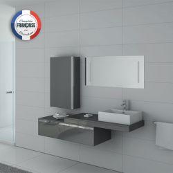 Meuble salle de bain simple vasque DIS9550GT Gris Taupe