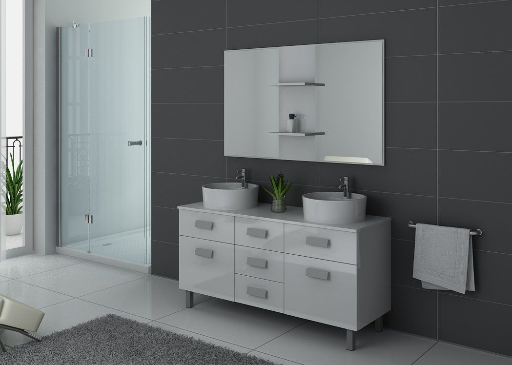 meuble de salle de bain blanc 2 vasques meuble de salle. Black Bedroom Furniture Sets. Home Design Ideas
