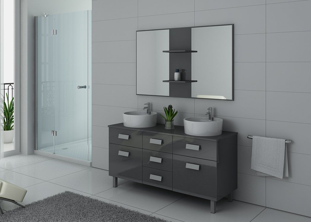 meuble de salle de bain gris taupe meuble 2 vasques. Black Bedroom Furniture Sets. Home Design Ideas