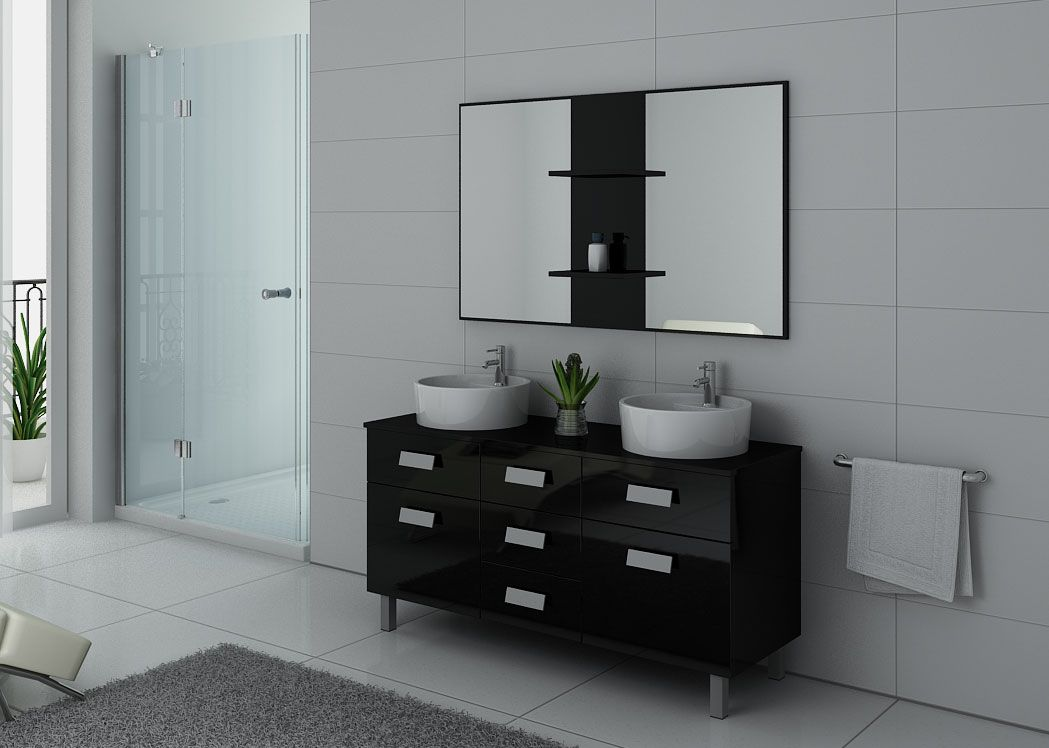 meuble de salle de bain 2 vasques sur pieds meuble de salle de bain contemporain. Black Bedroom Furniture Sets. Home Design Ideas