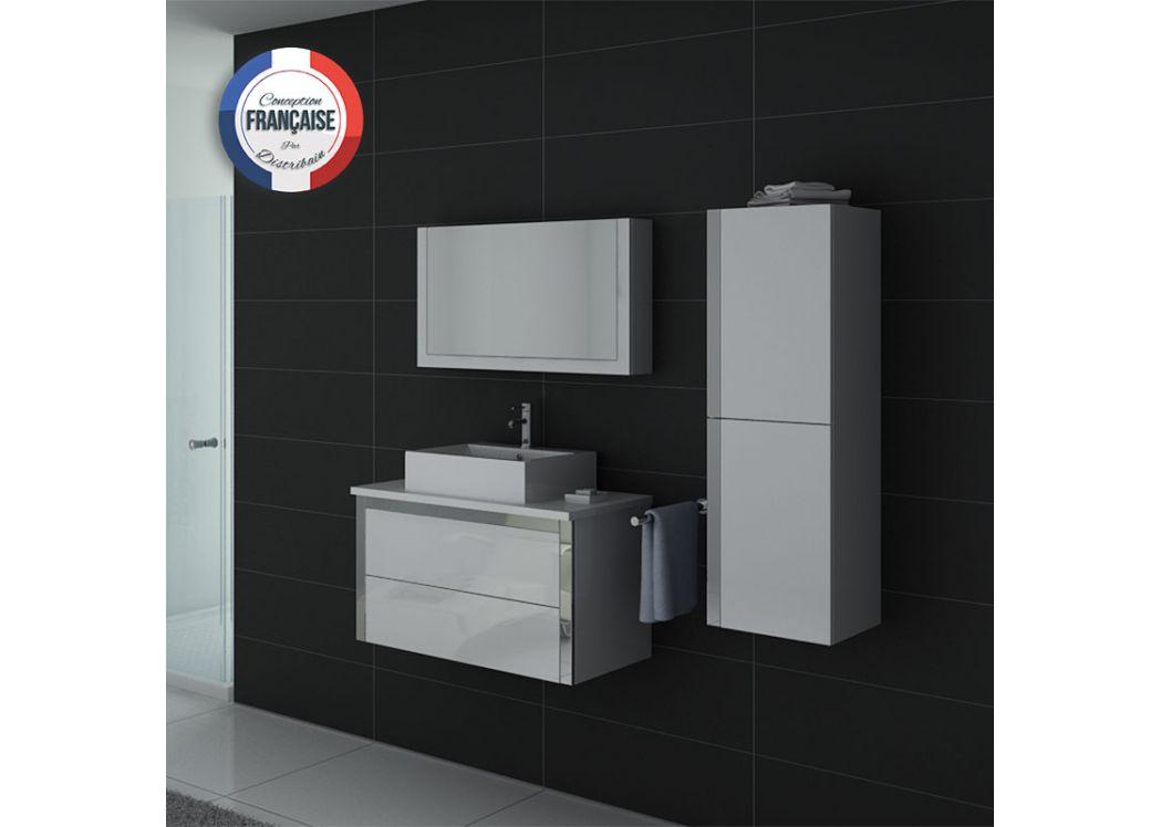 Meuble salle de bain ref dis026 900b - Meubles salle de bain cedeo ...