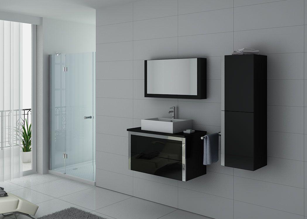 meuble salle de bain ref dis026 900n. Black Bedroom Furniture Sets. Home Design Ideas