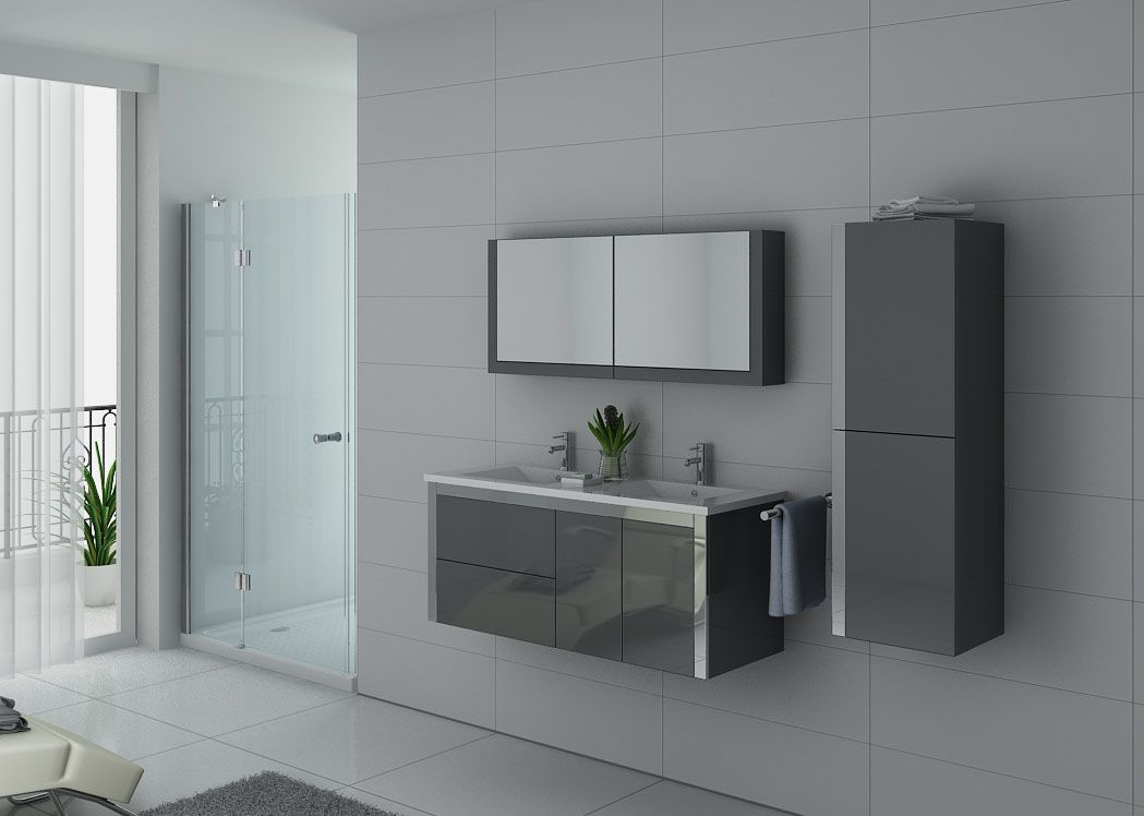 meuble de salle de bain 1m20 gris meuble de salle de bain. Black Bedroom Furniture Sets. Home Design Ideas