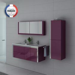 Meubles salle de bain DIS025-1200AU Aubergine