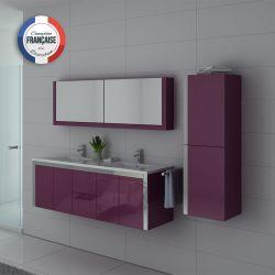 DIS025-1500AU Meubles salle de bain Aubergine