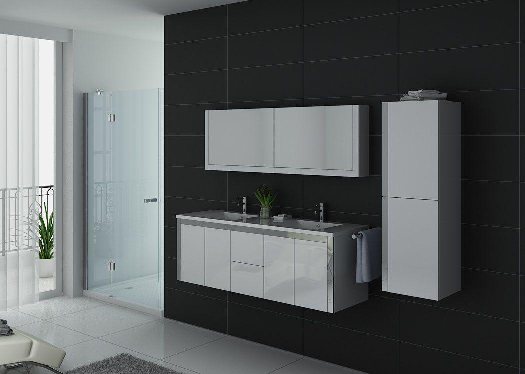 Meuble de salle de bain blanc meuble de salle de bain de bon rapport qualit prix - Grand meuble de salle de bain ...