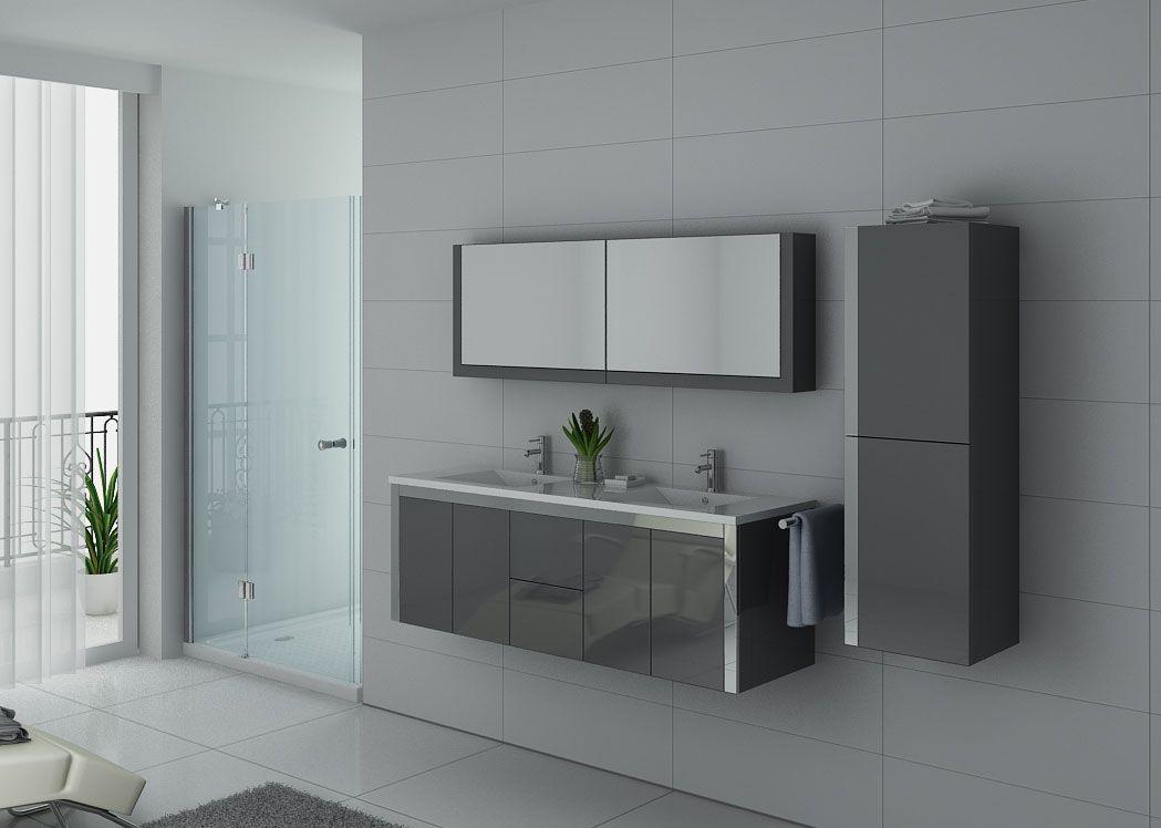 Meuble salle de bain ref dis025 1500b for Salle de bain inox