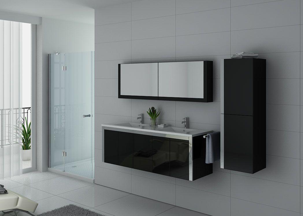 meubles salle de bain dis025 1500n noir