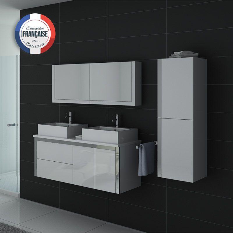 Meubles salle de bain DIS026-1300B blanc