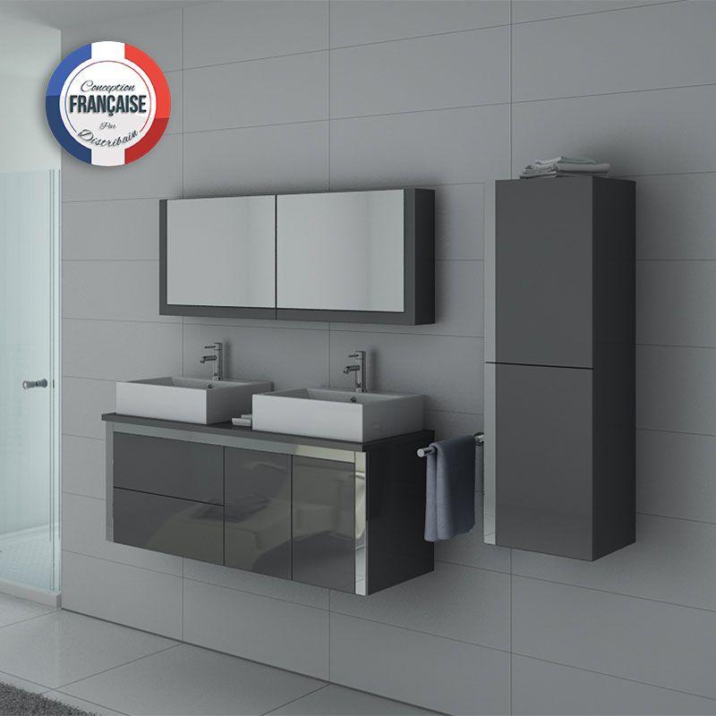 Meuble salle de bain DIS026-1300GT double vasque