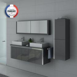 Assortiment pour salle de bain DIS026-1500GT Gris Taupe