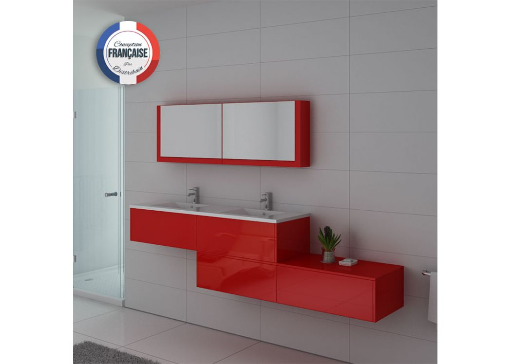 Meuble double vasque ref bellissimo co for Meuble salle de bain online
