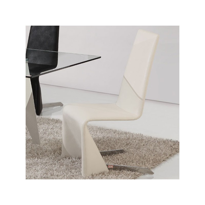 CITY Lot de 4 chaises blanches