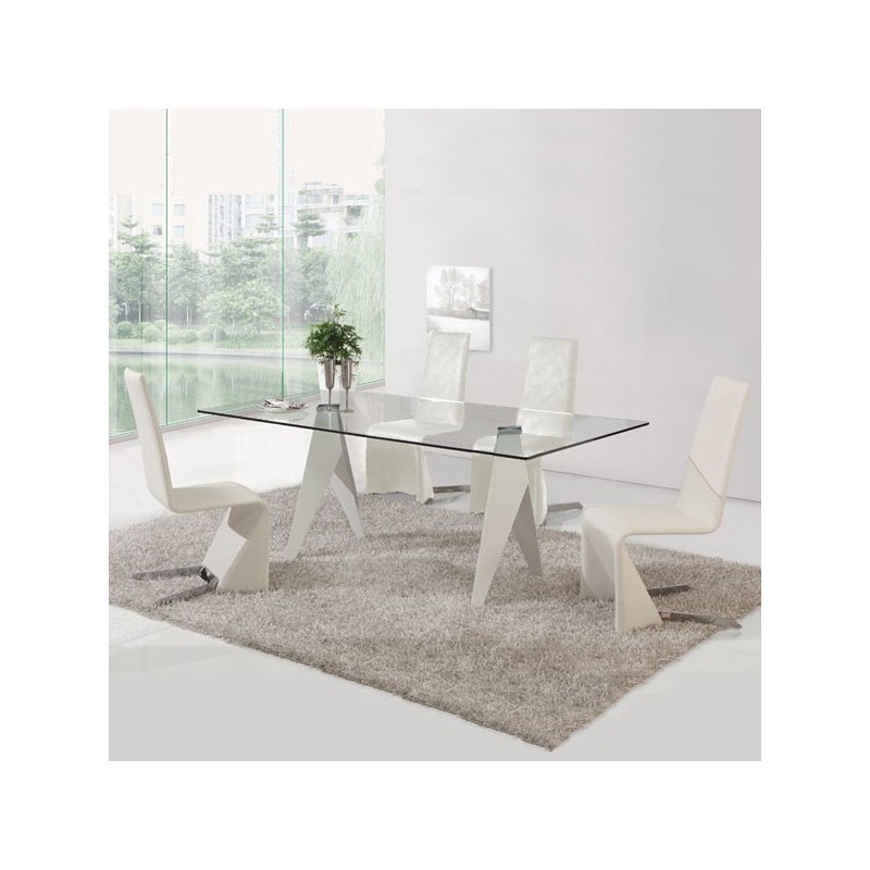 Chaise city - Lot 4 chaises blanches ...