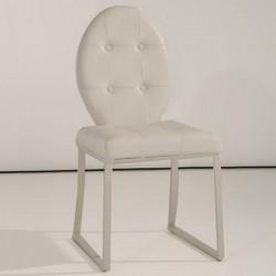 DITA Lot de 4 chaises blanches
