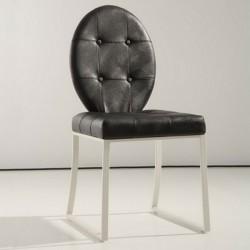 DITA Lot de 4 chaises noires