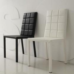 FANTASY Lot de 4 chaises blanches
