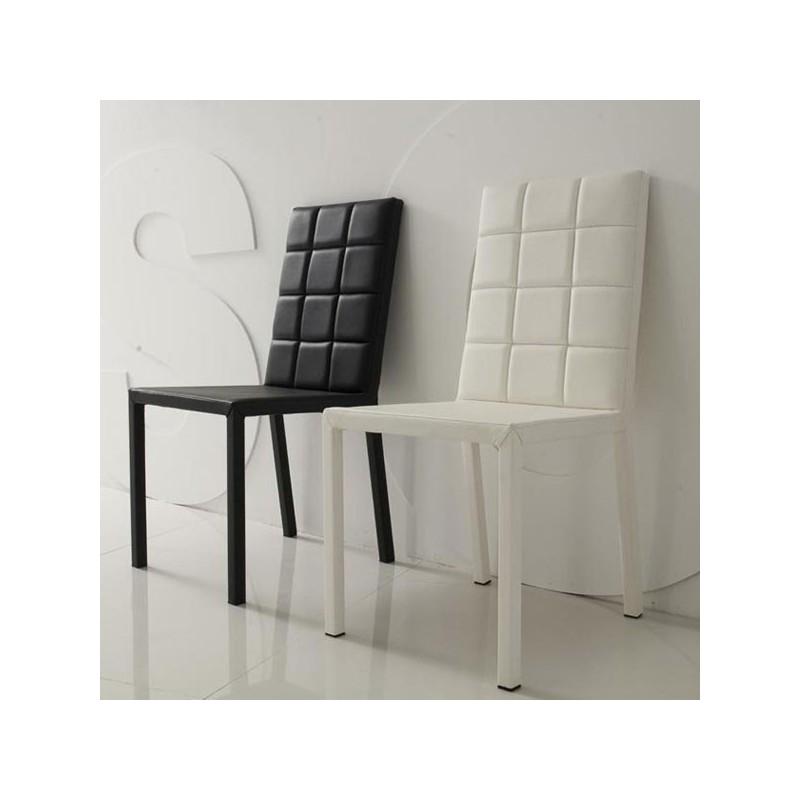 FANTASY Lot de 4 chaises noires