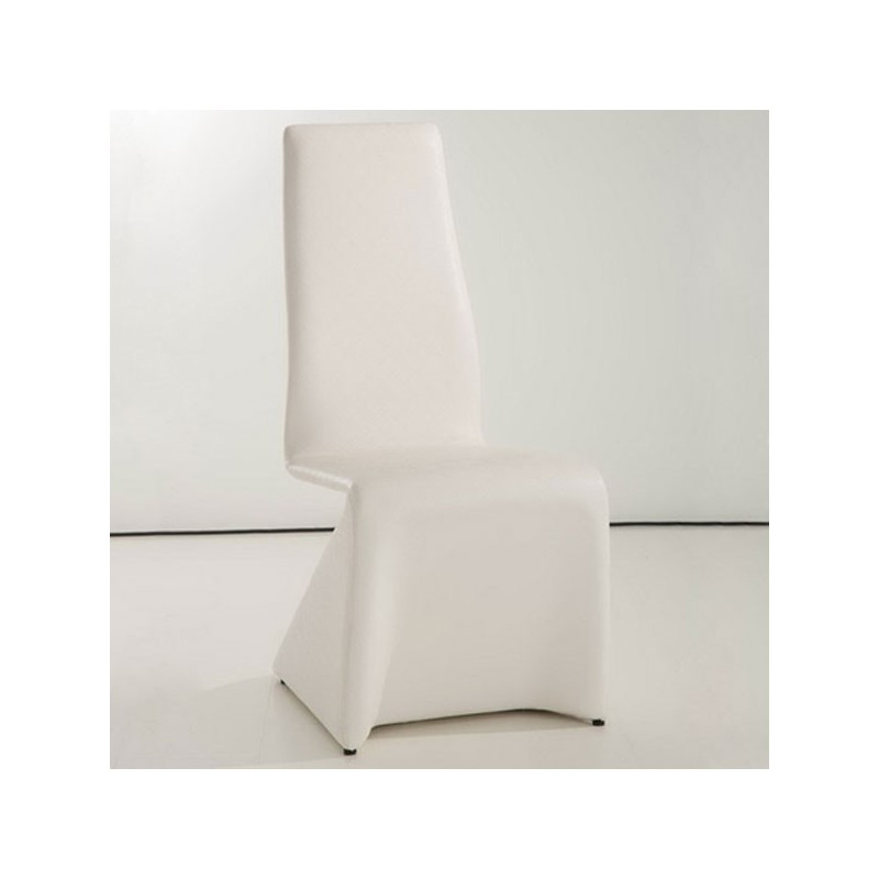 HOME Lot de 4 chaises blanches