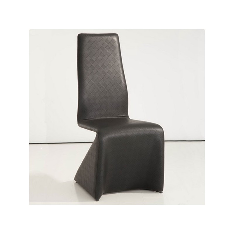 HOME Lot de 4 chaises noires