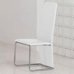 IZZY Lot de 4 chaises blanches