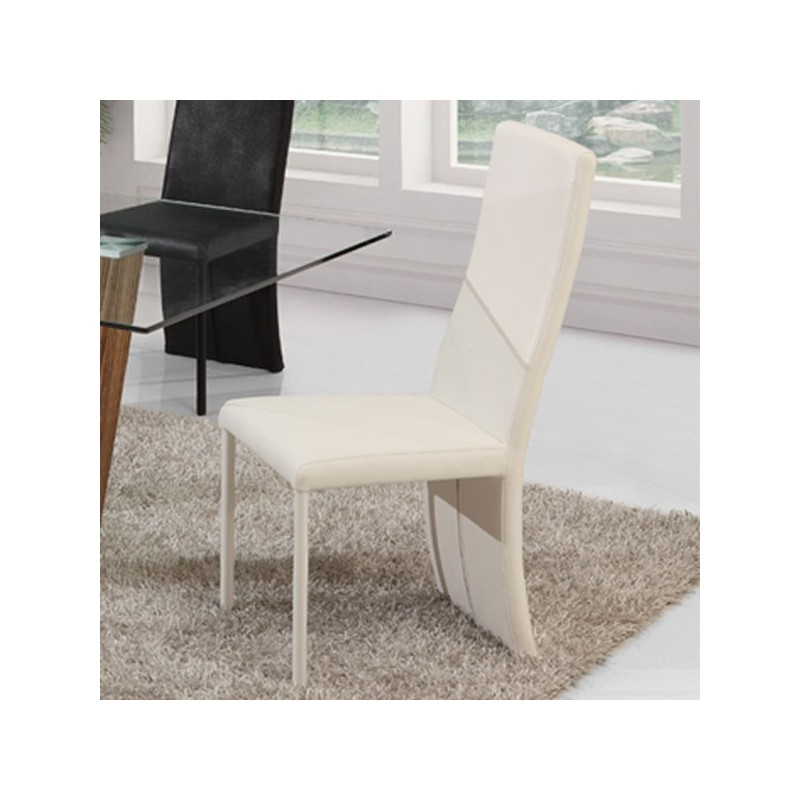 lot de 4 chaises blanches lilou salle manger. Black Bedroom Furniture Sets. Home Design Ideas