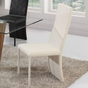 LILOU Lot de 4 chaises blanches