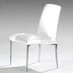 STELLA Lot de 4 chaises blanches
