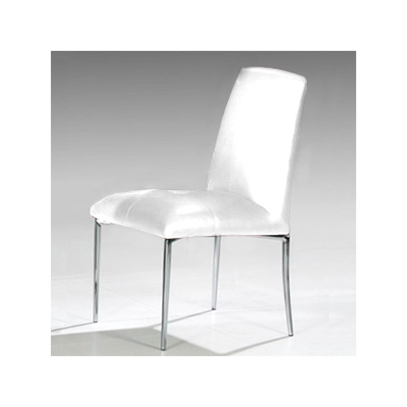 lot de 4 chaises stella blanc