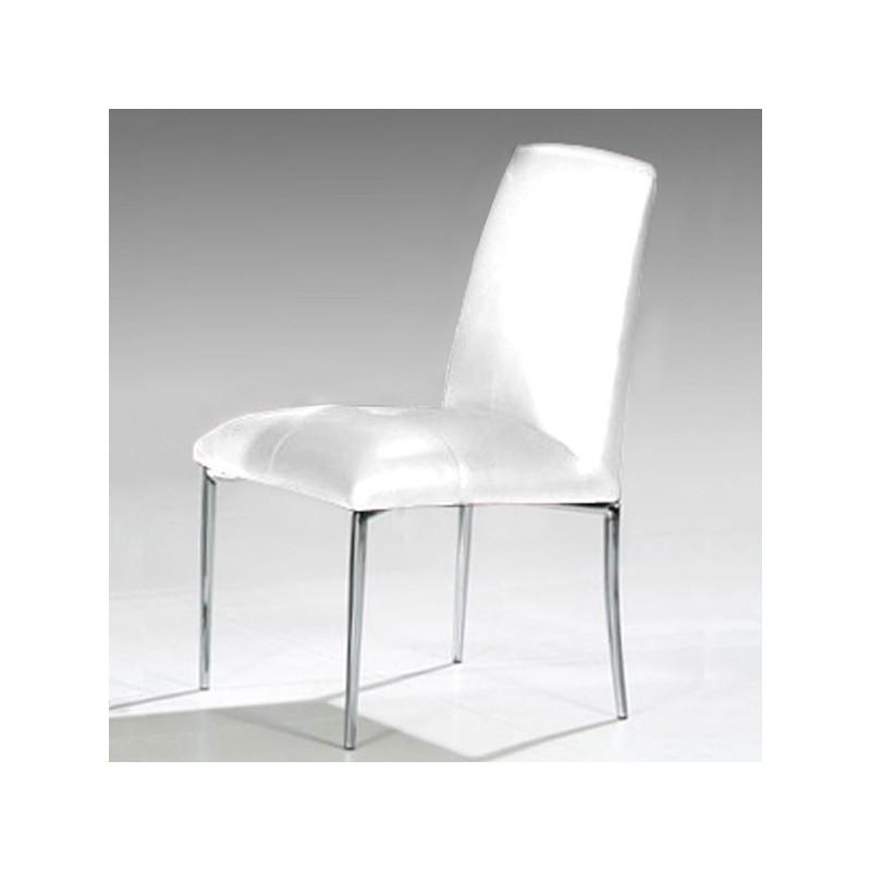 STELLAC Lot de 4 chaises blanches