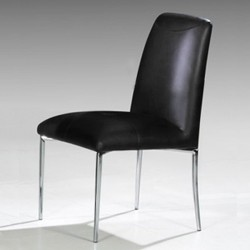 STELLA Lot de 4 chaises noires